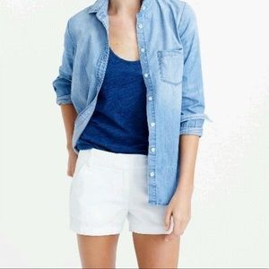 JCREW White Chino Los Rise Mini/Short Shorts